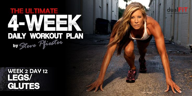 DualFIT intense 4-week workout plan to build overall body muscle! Legit site