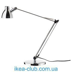 ИКЕА, IKEA, АНТИФОНИ, 203.047.36, Лампа рабочая, никелированный