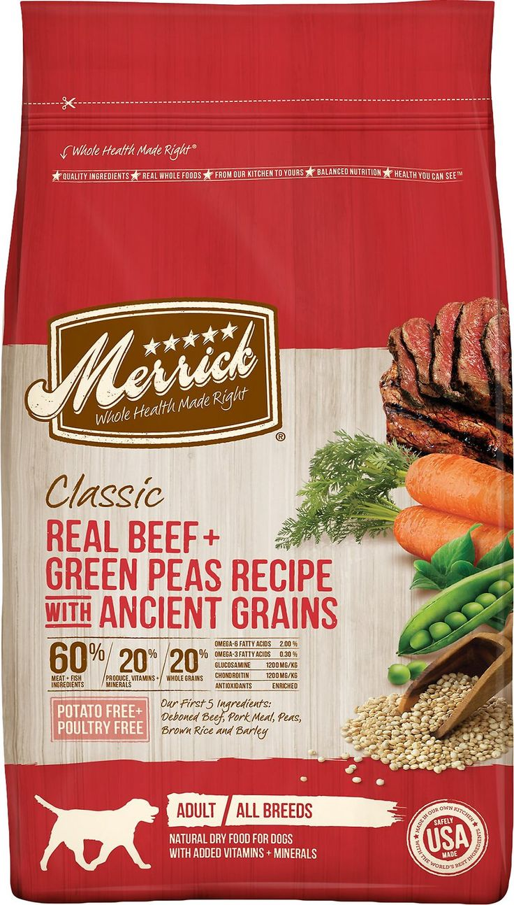 Merrick Classic Real Beef + Green Peas Recipe with Ancient Grains Adult Dry Dog Food