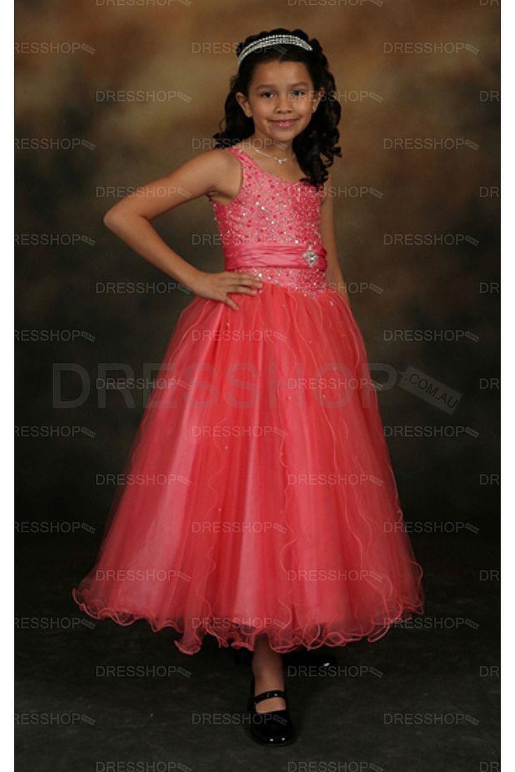 Wedding Ankle-length Princess Tulle Flower Girl Dresses - Flower Girl Dresses - Wedding Party Dresses - Dresshop.com.au