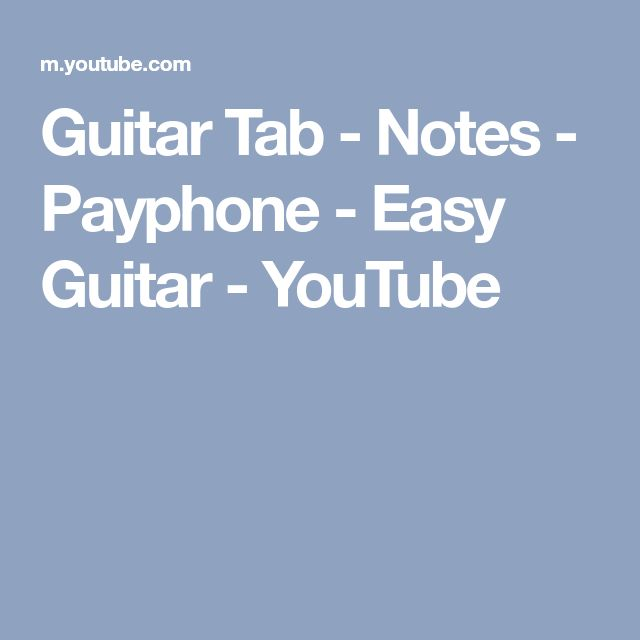Payphone guitar chords easy