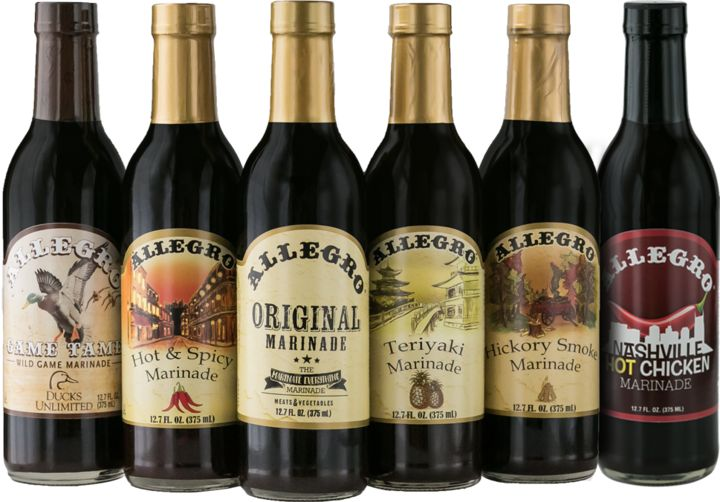 Allegro Marinades are The Marinate everything Marinades. We have the perfect #marinade for every occasion and every meal. Whether it's off the #grill, out of the oven, or over the campfire, your taste buds are in for a treat with Allegro marinades and sauces.