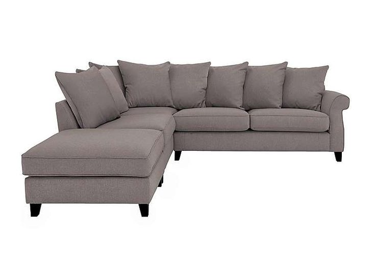 Sahara Fabric Corner Sofa with Footstool