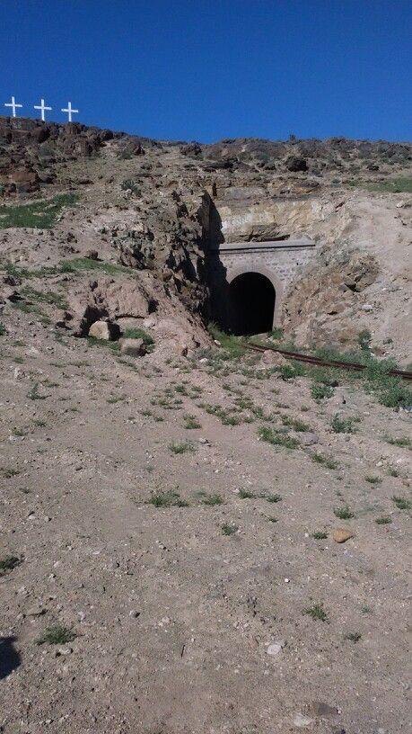 Desaparecido pueblo minero de Tres Cruces en la Cuarta región.
