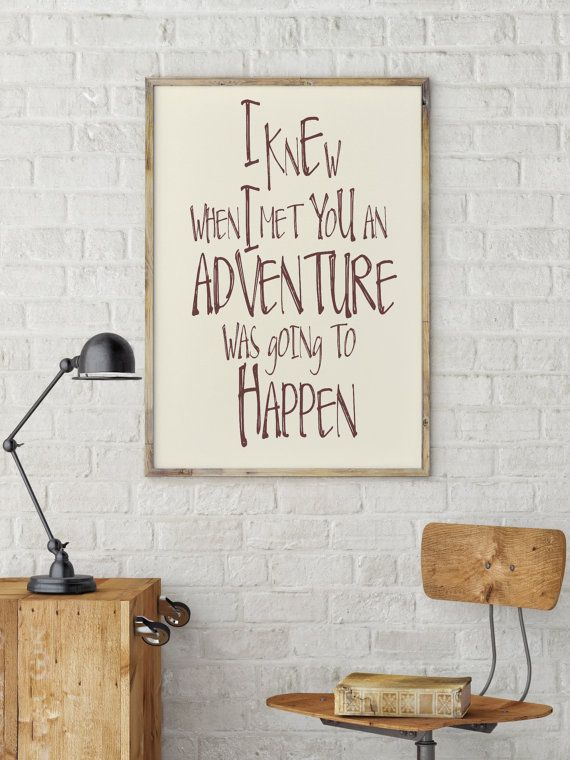 Winnie the Pooh quote print Disney movie quote by mixarthouse