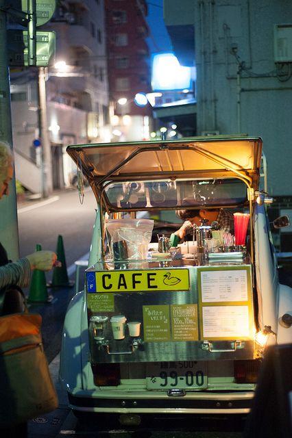by cloudcity, via Flickr | Japanese Street food in Nakameguro, Japan