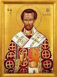 St. John Chrysostom (c. 347 - 407)  John was born in Antioch in 349 to Greco-Syrian parents. Different scholars describe his mother Anthusa as a pagan or as a Christian, and his father was a high-ranking military officer. Read the rest of his story here: https://www.facebook.com/photo.php?fbid=686453491437810&set=a.488124947937333.1073741829.100002194965757&type=1&theater