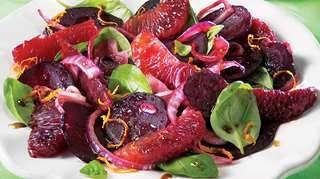 Salade tiède de betteraves et d'oranges sanguines   Recettes IGA   Légumes, Accompagnement, Recette facile