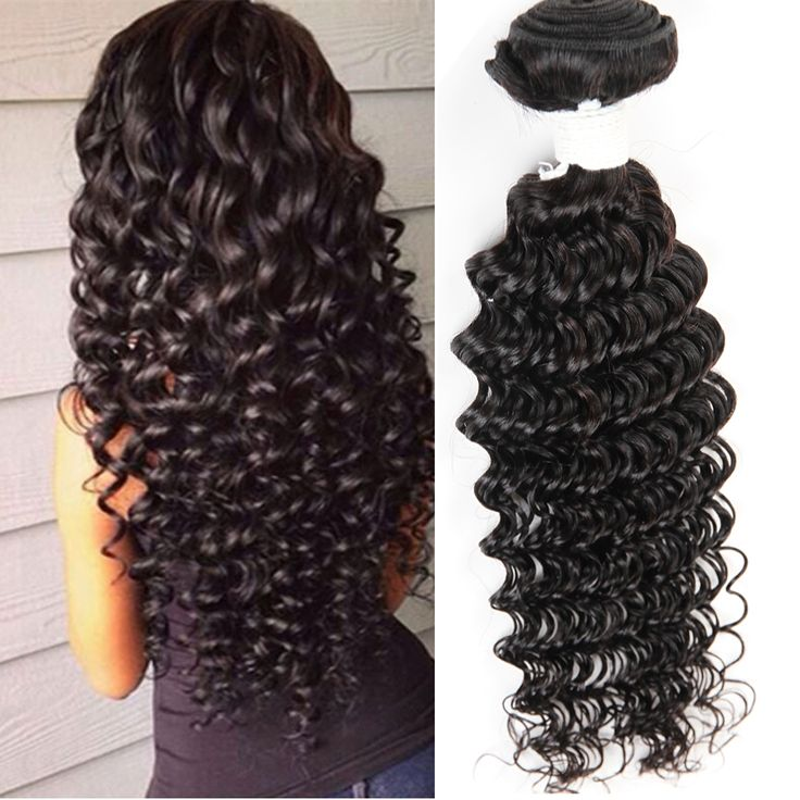 Brazilian Deep Curly Human Hair 50g Deep Curly Weave Virgin Human Hair Bundles #1B Brazilian Deep Curly Virgin Hair Extensions -  http://mixre.com/brazilian-deep-curly-human-hair-50g-deep-curly-weave-virgin-human-hair-bundles-1b-brazilian-deep-curly-virgin-hair-extensions/  #HairWeaving