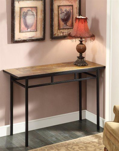 4D Concepts Sofa Table With Slate Top, Metal/ Slate 4D Concepts Http:/