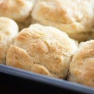 7 Up Biscuits - one of the easiest and fluffiest biscuit recipes ever!