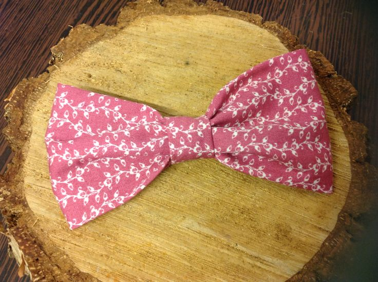 Bespoke handcrafted bow tie from Lilly Dilly's (matching pocket square also available) #bespoke #bow tie #floral #pink #wedding #groom #ushers #occasion #luxury