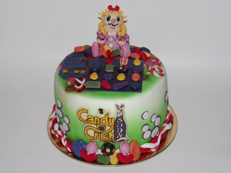 Candy Crush cake with PipiCake