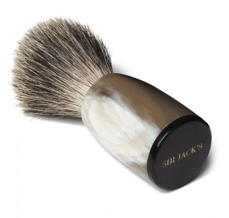 Sir Jack's Ox Horn Handle Badger Brush