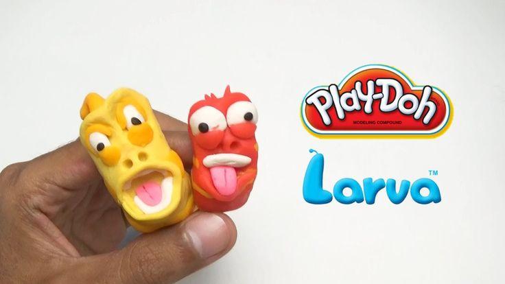 Play Doh Larva Cartoon New Episose Takes His Own - 플레이도 유충 - Pi n' Mo