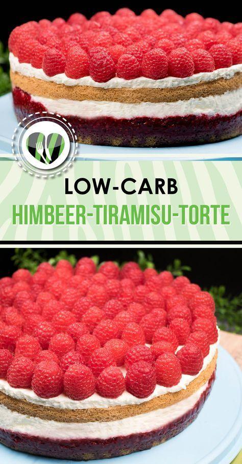 Die Himbeer-Tiramisu-Torte ist unheimlich lecker, low-carb und glutenfrei. Zudem habe ich den Kuchen mit Xylit gesüßt.