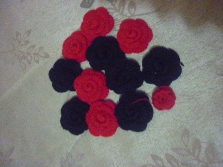 Rosas tejidas a crochet