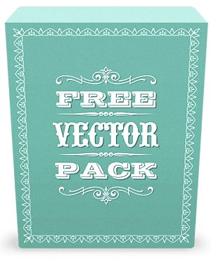 Free Vintage Vector Pack - 85 vector ornaments, 20 decorative frames, 100 vector illustrations to Download