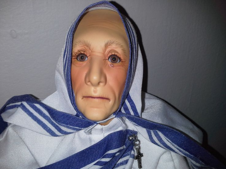 Beautiful Mother Teresa Doll Has Been Blessed At The Vatican by Nancyshaunteddolls on Etsy