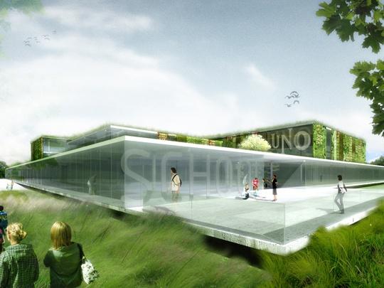 Uno Charter School proposal.  Stl Architects.