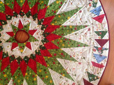 Parches desde el ático: Pie d árbol para navidad!