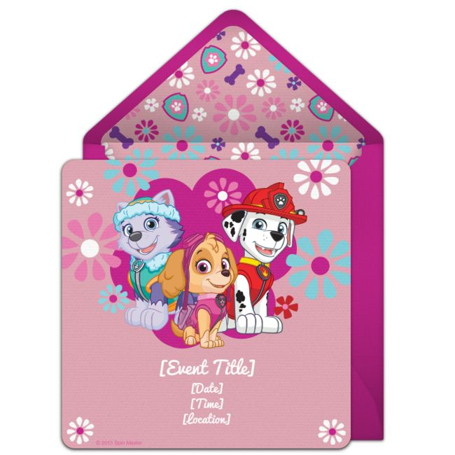 Free PAW Patrol invitations! Adorable PAW Patrol online invitations you can personalize and send via email. #pawpatrol