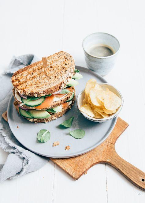 zalm sandwich recept