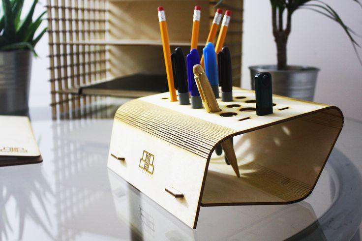 The Living Hinge Laser Cut Desk Tidy                                                                                                                                                                                 More