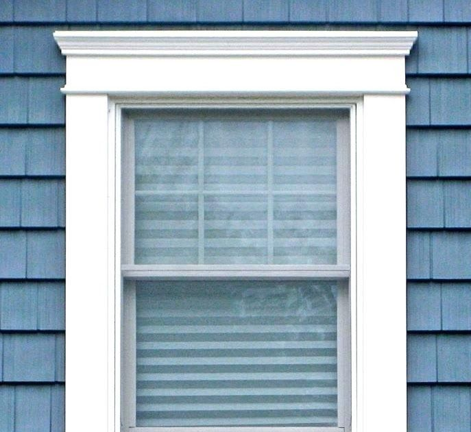 A Cornice Or Crown Molding Can Add Decorative Detail The Top Of The Window Or Head Casing Should Have Outdoor Window Trim Window Trim Exterior Diy Window Trim