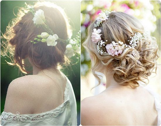 Best Cabelos De Noiva Wedding Hairstyle Images On Pinterest - Wedding hairstyle romantic with flowers