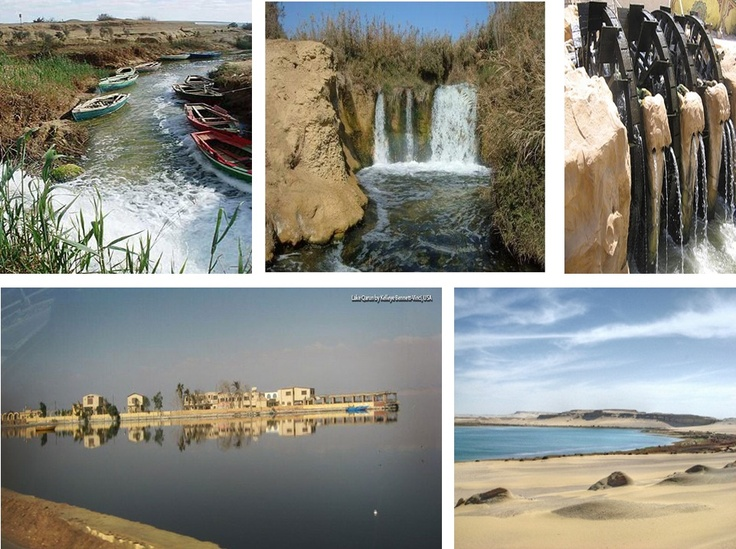 Wadi El-Rayan is Forty-two meters below sea level; it is a natural depression in the western desert of Egypt. It consists of two lakes connected by Egypt's only Waterfall