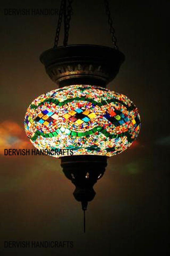 Free Shipping Turkish Pendant Lamp Hanging Lamp Chandelier Etsy Mosaic Lamp Ceiling Lights Pendant Lamp