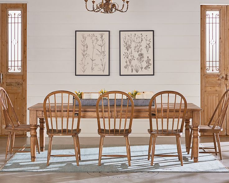 Primitive Dining Room With Windsor Chairs - Magnolia Home