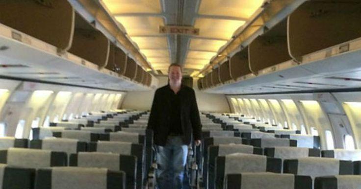 Incrível. Ele foi o único passageiro a bordo de um 737 - e voou na classe turística