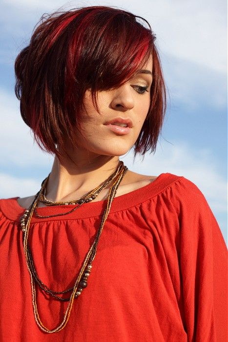 Red Bob Hairstyle - Redhead!!! - Short Red Bob Haircut with Bangs for Summer