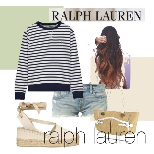 A fashion look from April 2014 featuring Ralph Lauren, Ralph Lauren sandals and Lauren Ralph Lauren tote bags. Browse and shop related looks.