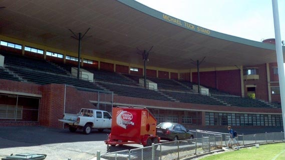 Trailer Trash used in stadiums. This one at Glenferrie Oval in Melbourne.