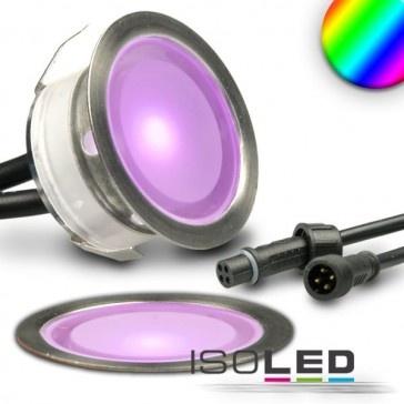 """LED Bodenstrahler """"SLIMEYE"""", rund, IP67, edelstahl, RGB / LED24-LED Shop"""