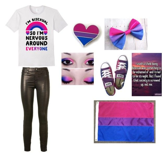 """Bisexual pride"" by killtonight on Polyvore featuring J Brand"