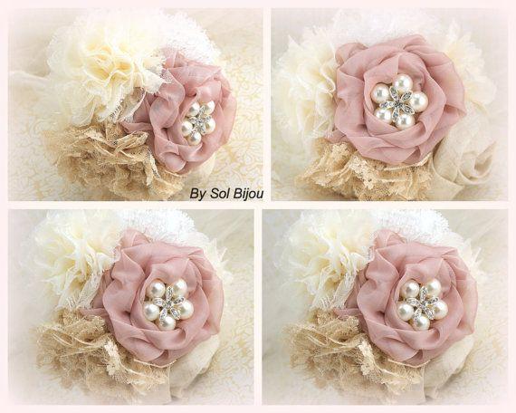 Bouquets de broche de demoiselles d'honneur de mariage par SolBijou, $400.00