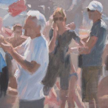 "Saatchi Online Artist Andrea Mancini; Painting, ""Bagnanti, 2012"" #art"