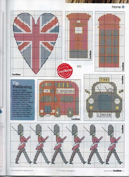 Free London motif cross stitch pattern #stitching