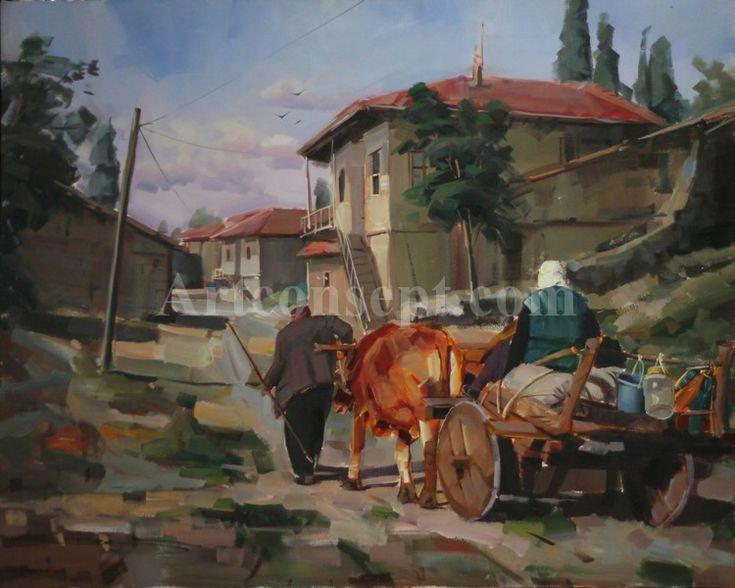 Ressam Bekir Üstün Yağlı Boya Tabloları   Artconsept.com