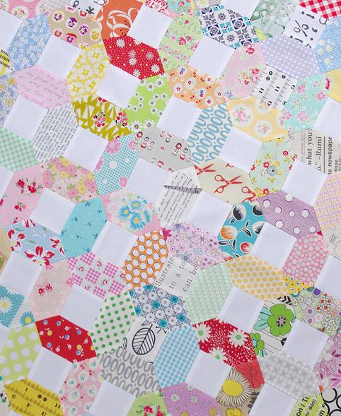Kansas Dugout Quilt Top ~ Machine piecing tutorial, but you could easily hand piece as well. Templates included!