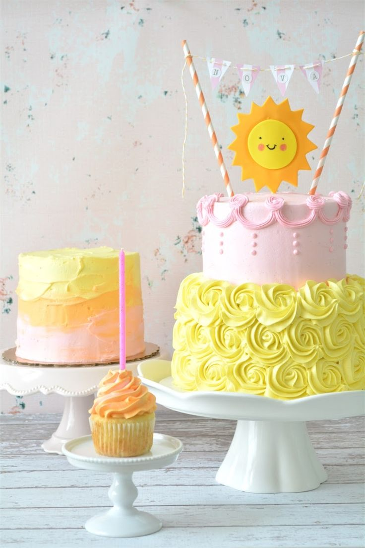 Sunshine Birthday Cakes