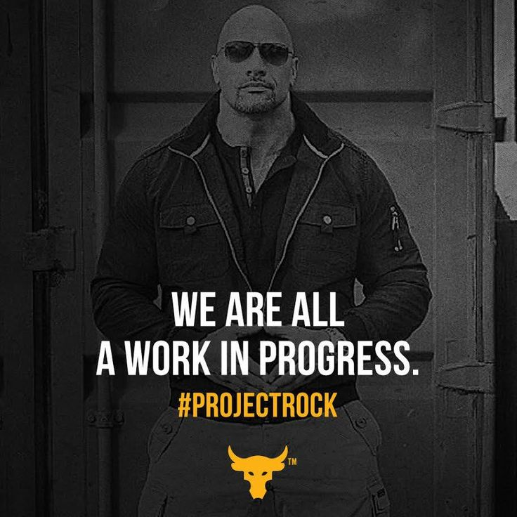 We're all a project. A continuous work in progress. We get after our goals...get knocked on our ass every now and then...and get right back up to chase our greatness.  #ProjectRock #TimeToGetAfterIt #ComingSoon