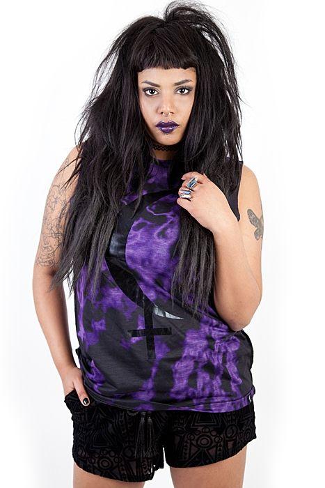 Black Moon Lilith Eclipse Singlet | Women | Shock, your alternative webshop | punk clothing, rock clothes, Dr Martens