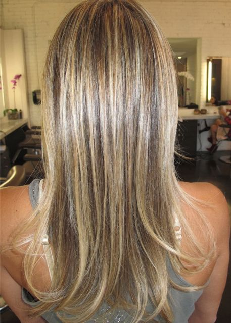 sandy blonde highlights Goal Hair - right balance between blond and a good brown