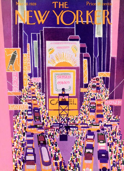 Cover of The New Yorker Magazine in Purples - March 1928