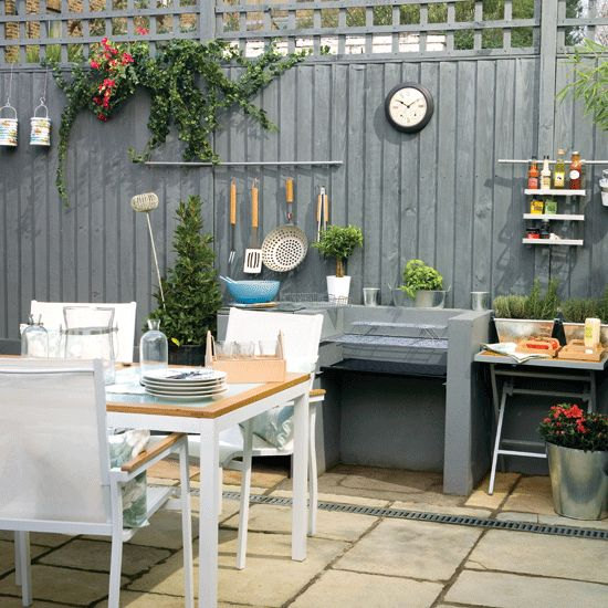 GARDEN SPACES: A built-in barbeque is ideal for family meals as well as entertaining in the summer.